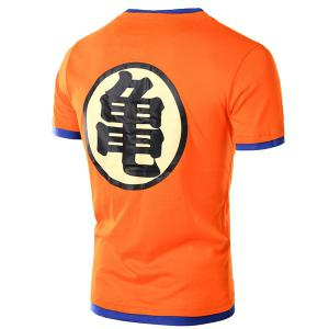 Faux Twinset Chinese Character Print Short Sleeve T-Shirt For Men -
