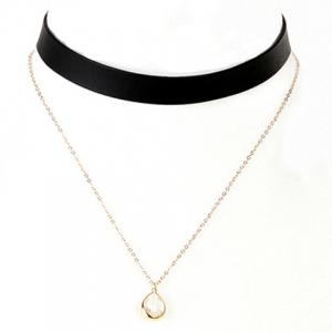 Double Layer Water Drop Necklace