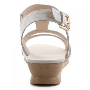 Leisure White Colour and T-Strap Design Sandals For Women -