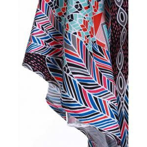 Sexy Loose-Fitting Plunging Neckline 1/2 Sleeve Chiffon Cover-Up For Women -