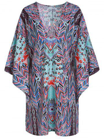 Fashion Sexy Loose-Fitting Plunging Neckline 1/2 Sleeve Chiffon Cover-Up For Women