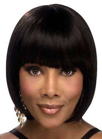 Hot Graceful Short Full Bang Synthetic Bob Style Straight Capless Wig For Women