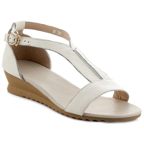 Outfits Casual T-Strap and PU Leather Design Sandals For Women
