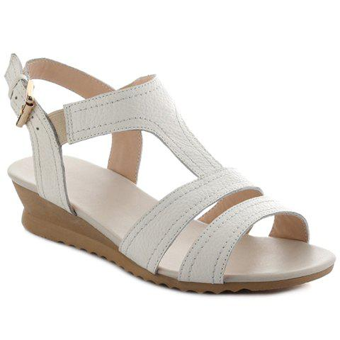 Outfit Leisure White Colour and T-Strap Design Sandals For Women