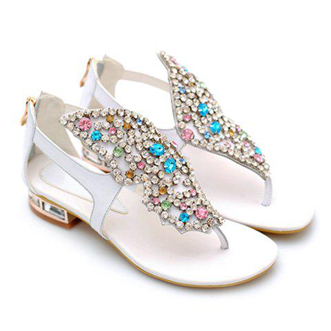 Hot Gorgeous Rhinestones and Butterfly Design Sandals For Women