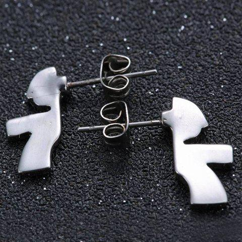 Unique Pair of Cute Child Jigsaw Earrings For Women