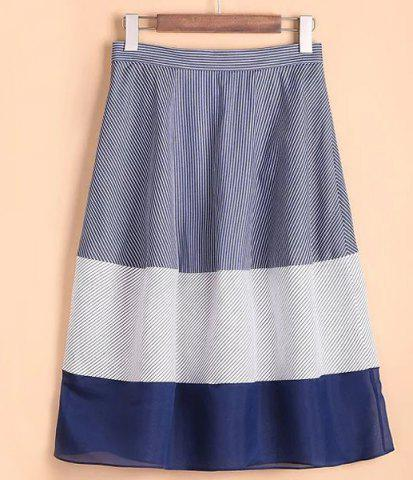 Fashion Stylish High-Waisted Pinstriped Skirt For Women