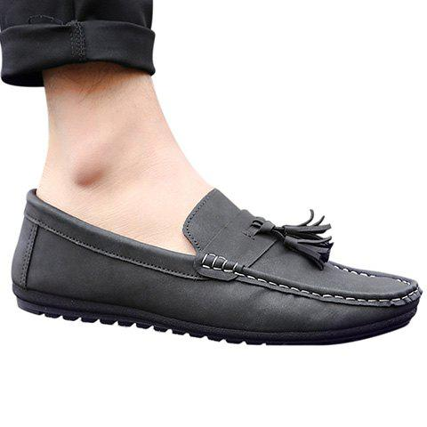 Store Simple Stitching and Tassels Design Casual Shoes For Men