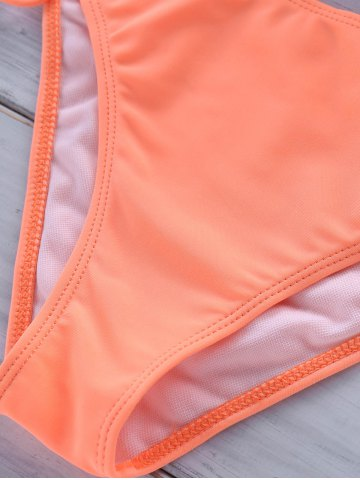 Store Women's Chic Candy Color Halter Bikini Suit - M ORANGEPINK Mobile