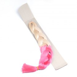 Gorgeous Blonde Omber Pink Heat Resistant Synthetic Long Braided Hair Extension For Women -