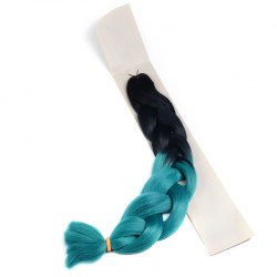 Fashion Two-Tone Ombre Long Synthetic Braided Hair Extension For Women -