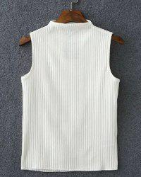 Simple Turtle Neck Sleeveless Pure Color Slimming T-Shirt For Women