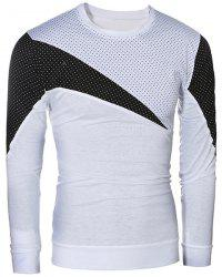 Casual Color Block Pullover Long Sleeves T-Shirt For Men -