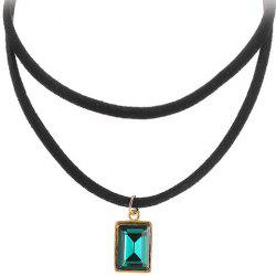 Multilayered Rectangle Pendant  Choker Necklace