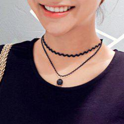 Bead Multilayered Choker Necklace