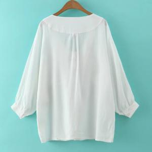 Batwing Sleeve Front Pockets Blouse -