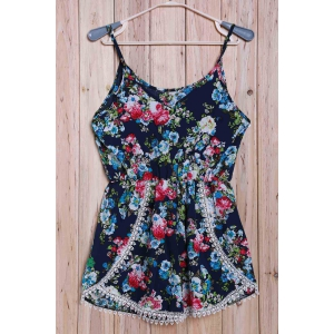 Trendy Floral Print Camisole Women's Playsuit -