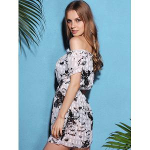 Trendy Halter Floral Print Push-Up Three-Piece Swimsuit For Women -
