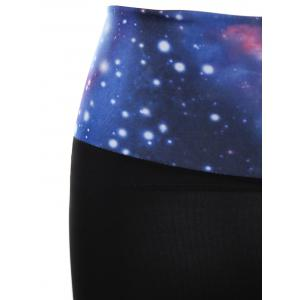 Galaxy Print Gym Shorts - BLUE ONE SIZE(FIT SIZE XS TO M)