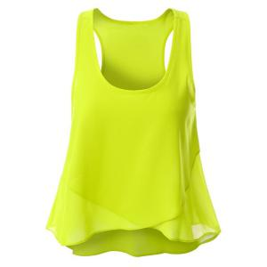 Scoop Neck Chiffon Tank Top