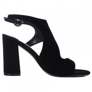 Elegant Black Color and Chunky Heel Design Sandals For Women -