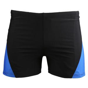 Men's Color Block Elastic Waist Swimming Trunks -