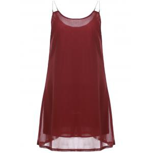 Leisure Style Chain Strappy Sleeveless Loose Chiffon Dress For Women -