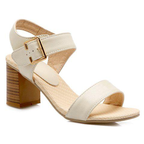 Buy Trendy Chunky Heel and Solid Color Design Sandals For Women