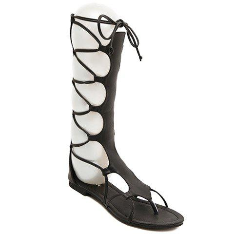 Affordable Flip Flop Design Gladiator Sandals That Lace Up Calf