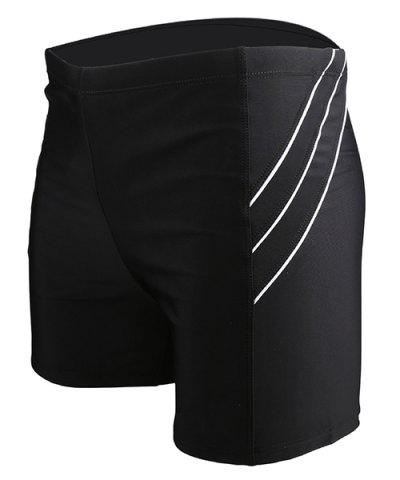 New Men's Line Elastic Waist Swimming Trunks