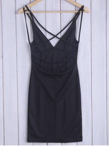 Shops Low Cut Open Back Slip Dress - M BLACK Mobile