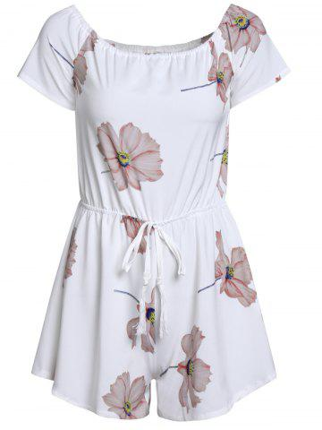 Outfit Floral Drawstring Romper