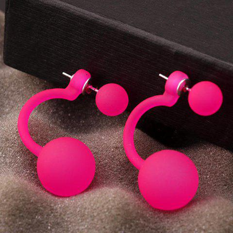 Outfits Pair of Alloy Ball Stud Earrings