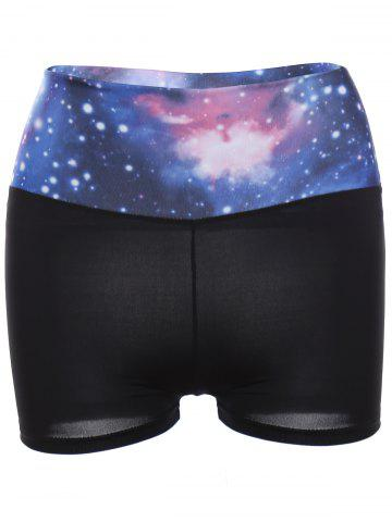 Outfit Galaxy Print Gym Shorts BLUE ONE SIZE(FIT SIZE XS TO M)