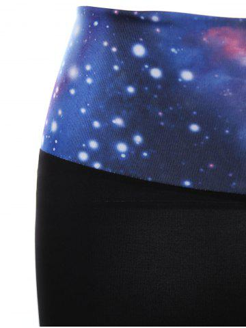 Latest Galaxy Print Gym Shorts - ONE SIZE(FIT SIZE XS TO M) BLUE Mobile