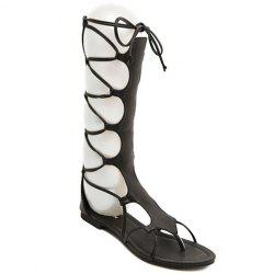 Flip Flop Design Gladiator Sandals That Lace Up Calf -