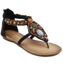 Casual Beading and Flip Flop Design Sandals For Women -