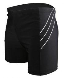 Men's Line Elastic Waist Swimming Trunks -