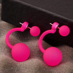 Pair of Alloy Ball Stud Earrings -