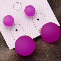Pair of Alloy Ball Stud Earrings