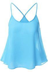 Candy-Colored Chiffon Women's Cami Top