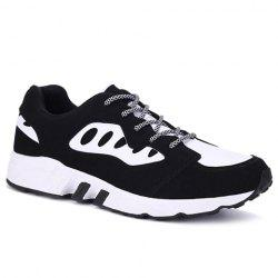 Casual Color Block and Suede Design Athletic Shoes For Men -