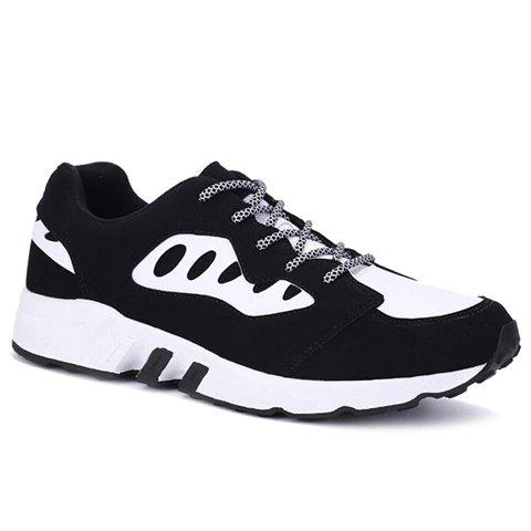 Hot Casual Color Block and Suede Design Athletic Shoes For Men
