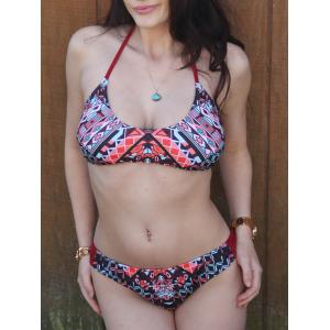 Halter Geometry Bikini Set - MULTI S