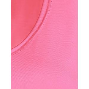 Slit Long Workout Gym Vest - Rose L