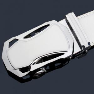 Stylish Hollow Out Sports Car Shape Metal Buckle Wide Belt For Men -