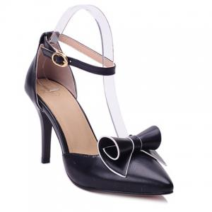 Ladylike Bow and Two Piece Design Pumps For Women