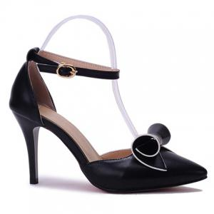 Ladylike Bow and Two Piece Design Pumps For Women - Black 34 buy cheap genuine nqsufd