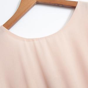 Women's Stylish Bowknot Decorated Sleeveless Pink Round Neck Dress -