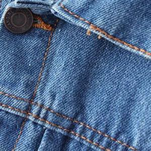 Ripped Denim Jacket with Pockets -